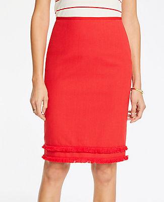 Ann Taylor Fringe Pencil Skirt