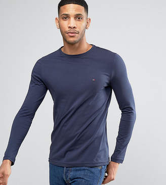 Tommy Hilfiger long sleeve top flag logo in navy exclusive at asos