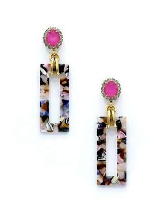 Elizabeth Cole Gaylen Link Drop Earrings