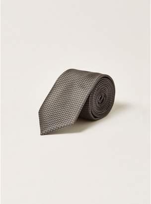 Topman Mens Grey Gray Texture Tie
