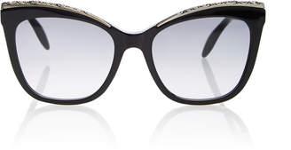 Alexander McQueen Sunglasses Jewel-Embellished Cat-Eye Sunglasses