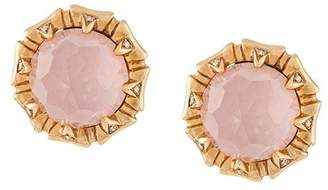 Stephen Webster 18kt rose gold, opal and diamond stud earrings