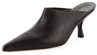 The Row Bourgeoisie Calf Pointed-Toe Mules