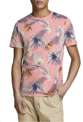 Jack and Jones Tropical Floral Crewneck T-Shirt