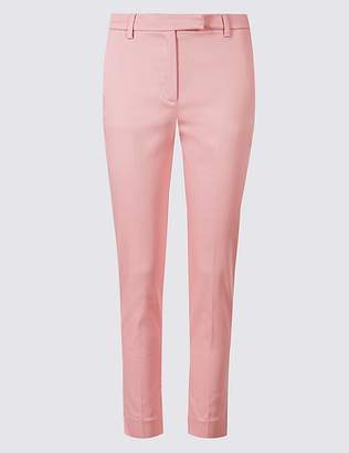 Marks and Spencer Cotton Rich Slim Leg 7/8 Trousers