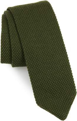 The Tie Bar Solid Knit Wool Tie