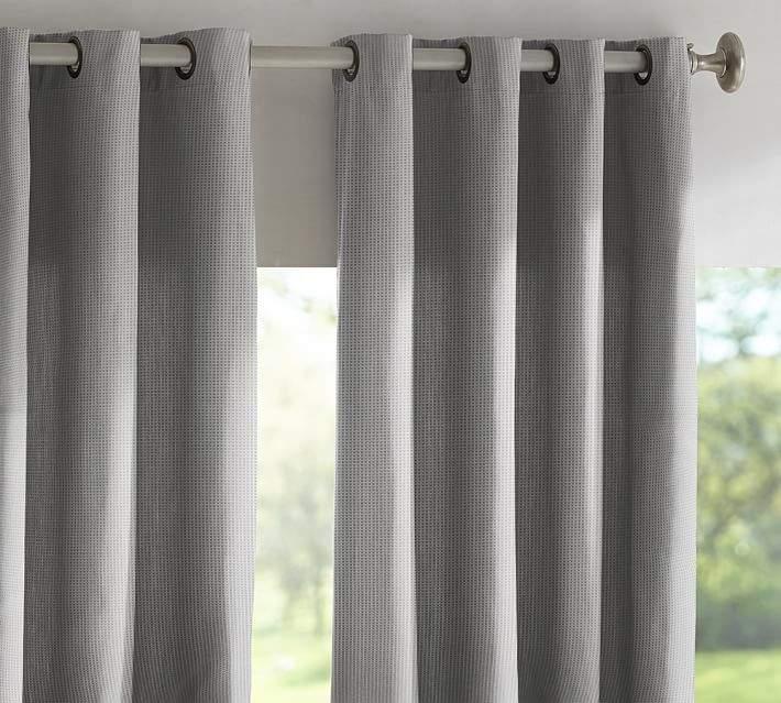 Sunbrella®; Solid Indoor/Outdoor Grommet Drape - Volt Silver