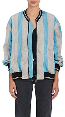 Y/Project Women's Striped Satin-Finished Faille Bomber Jacket