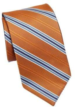 Saks Fifth Avenue COLLECTION Double Face Stripe Silk Tie