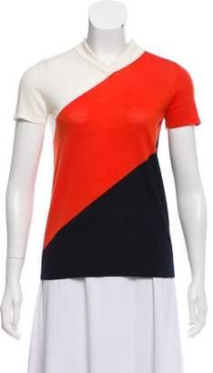 Akris Punto Wool Short Sleeve Top