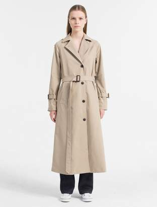 Calvin Klein belted long trench coat