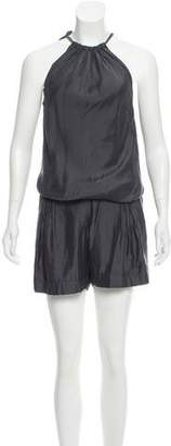 Brunello Cucinelli Gathered Sleeveless Romper