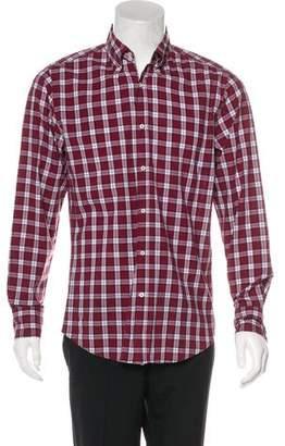 Brunello Cucinelli Plaid Italian-Fit Shirt