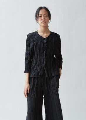 Issey Miyake Splash Pleats Solid Cardigan