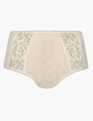 Marks and Spencer Jacquard Lace High Rise Full Briefs