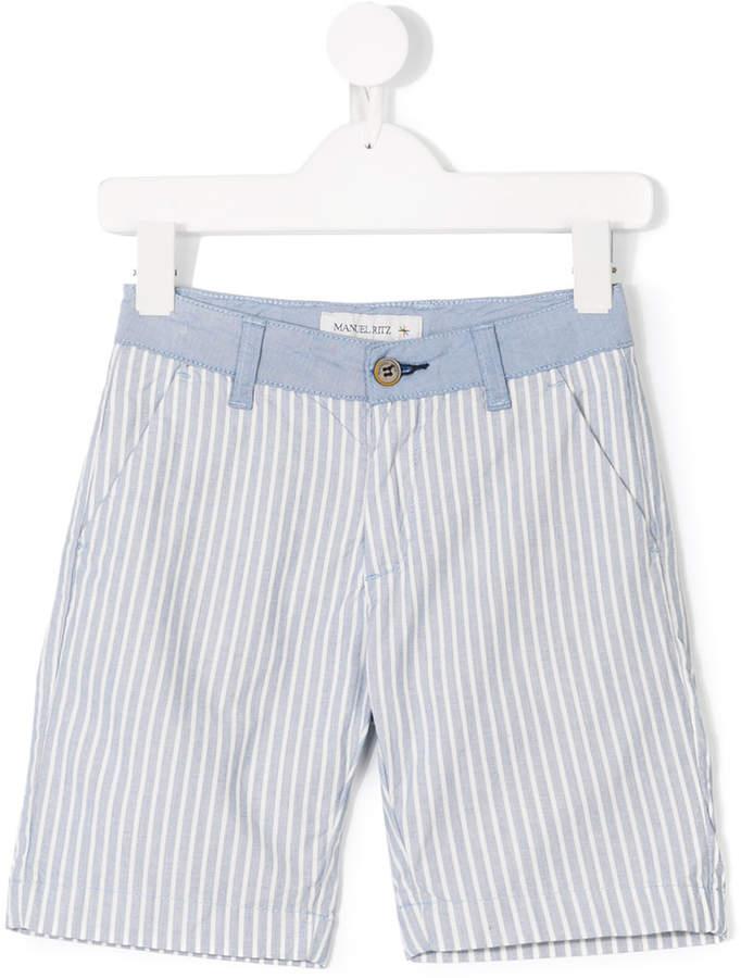 Manuel Ritz Kids striped shorts