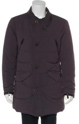 Giorgio Armani Overcoat Zip-Up Jacket