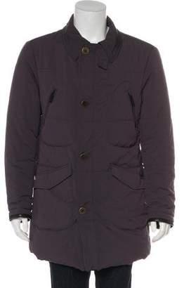 Giorgio Armani Overcoat Zip-Up Jacket