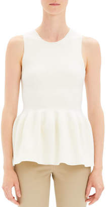 Theory Shaped Wool Peplum Knit Shell Top