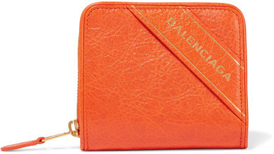 Balenciaga  Balenciaga - Embossed Textured-leather Wallet - Orange