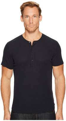 7 For All Mankind Short Sleeve Thermal Henley Men's Clothing