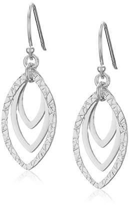 Marquis Sterling Triple Drop Earrings