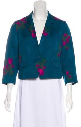 Dries Van Noten Floral Print Long Sleeve Blazer