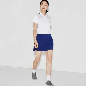Lacoste Women's SPORT Tennis Technical Mesh Pleated Skirt