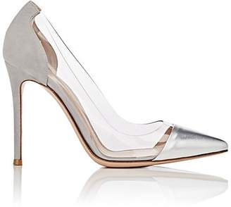 Gianvito Rossi Women's Plexi Pumps - Silver