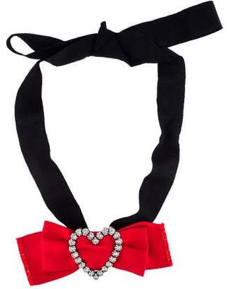 Lanvin Courtney Heart Brooch Pendant Necklace