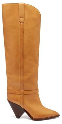 Isabel Marant - Lafsten Thigh High Leather Boots - Womens - Tan