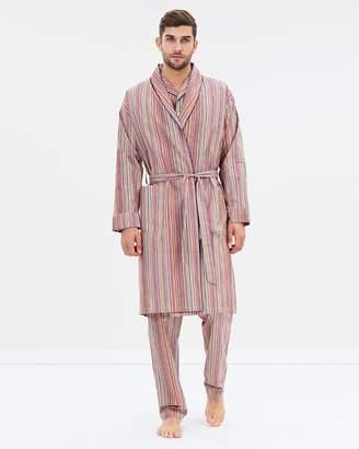 Paul Smith Lightweight Cotton Multistripe Robe