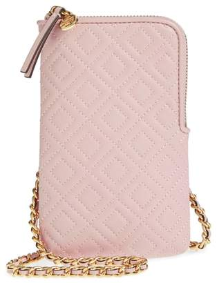 Tory Burch Fleming Lambskin Leather Phone Crossbody Bag
