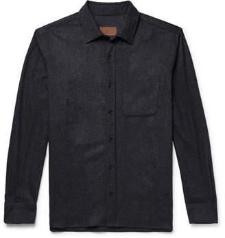 Altea Mélange Virgin Wool-Blend Shirt