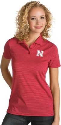 Antigua Women's Nebraska Cornhuskers Quest Polo