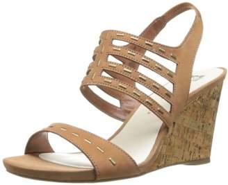 Anne Klein AK Women's Trisa Nubuck Wedge Sandal