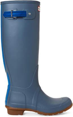 Hunter Gull Grey & Blue Original Seaton Tall Rain Boots