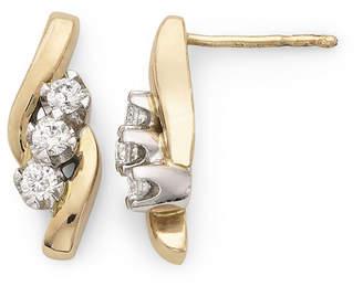 Sirena S CT. T.W. Diamond 14K Yellow Gold Earrings