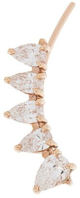 Anita Ko 18kt rose gold pear diamond floating earring