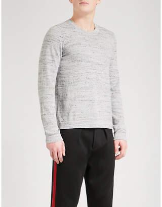 Sandro Crewneck marled cotton-blend jumper