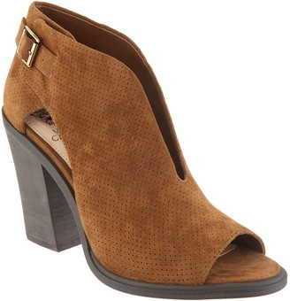 Vince Camuto Suede Front V-Cut Peep Toe Booties - Kalei