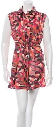 Thakoon Camouflage Silk Dress