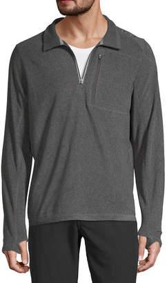 HI-TEC SPORTS USA Hi-Tec Plush Microfleece Mens Mock Neck Long Sleeve Quarter-Zip Pullover