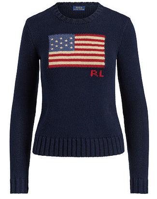 Polo Ralph Lauren Flag Cotton Crewneck Sweater $145 thestylecure.com