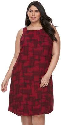 Apt. 9 Plus Size Printed A-Line Dress