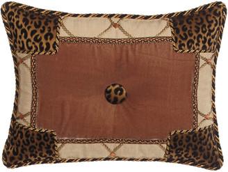 "Sweet Dreams Casablanca Animal-Print Pieced Pillow, 13"" x 17"""