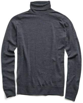 John Smedley Sweaters Easy Fit Roll Turtleneck in Charcoal