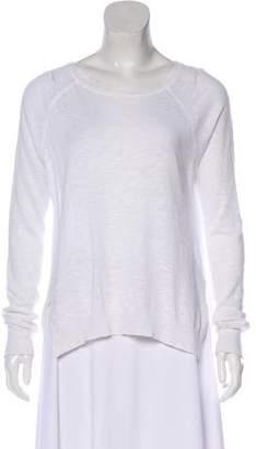 White + Warren Long Sleeve Bateau Neck Top