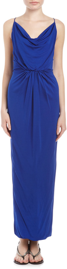 Yigal Azrouel Cut25 by Jersey Strappy-Back Gown, Ultramarine