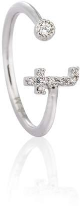 Astrid & Miyu - Silver Initial T Ring